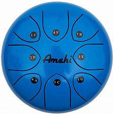 Steel Tongue Drum 8 Blue